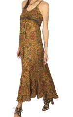 Robe longue femme imprimé ethnique à porter l\'été Luciane