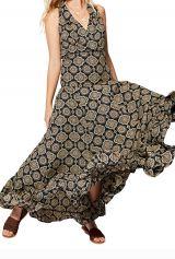 Robe longue femme mode chic ethnique originale Oriane