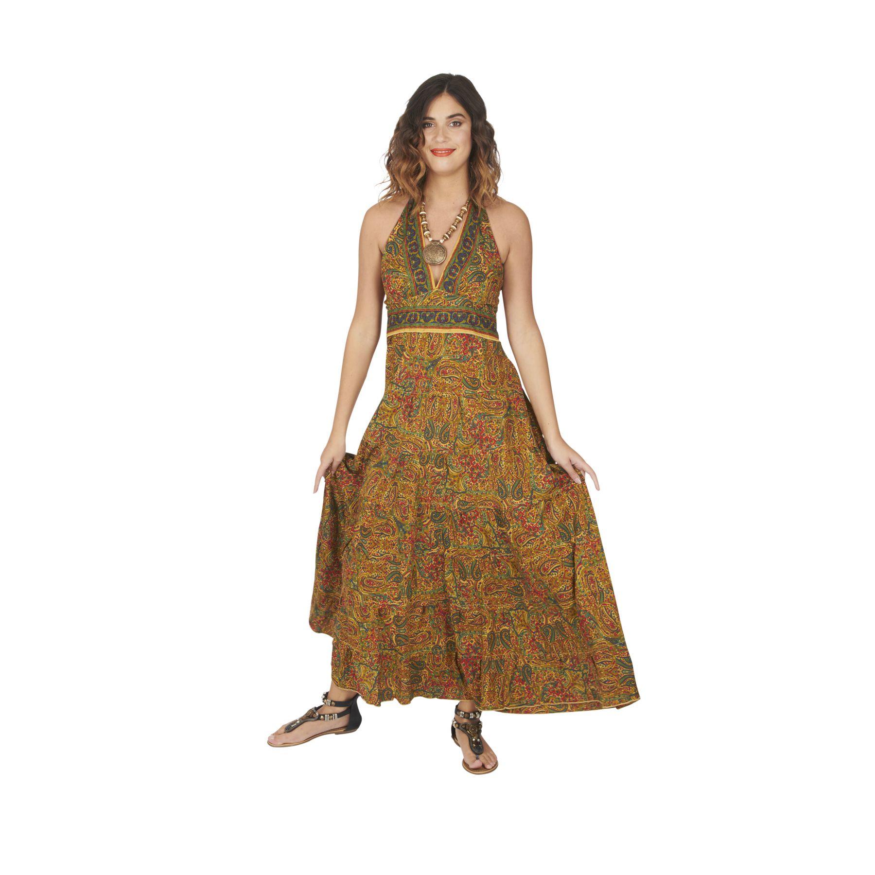 Tenture Africaine Grande Taille robe longue femme pour soirée d'été style africain sévrane