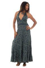 robe longue fluide avec un col plongeant et imprimés ethniques Swann 289701