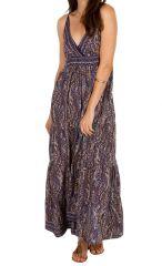 Robe longue fluide et agréable au joli dos Valentine 311502