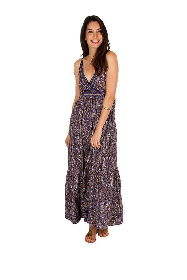 Robe longue fluide et agréable au joli dos Valentine 311503