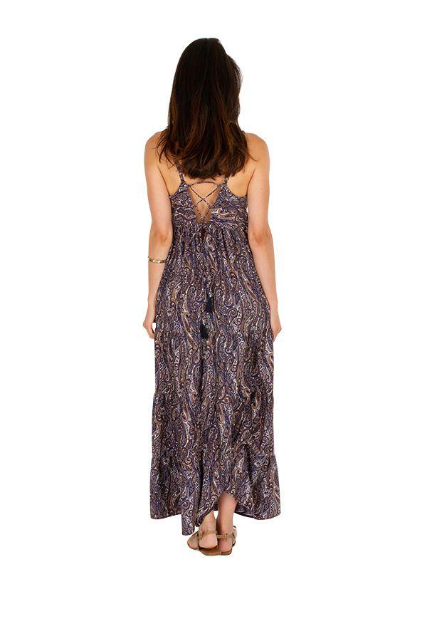 Robe longue fluide et agréable au joli dos Valentine 311504