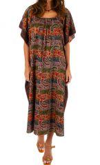 Robe longue fluide pour femme colorée Ghinda violette 314494