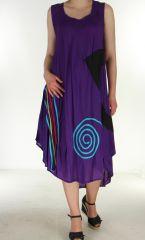 Robe longue fluide Violette d'été Flamya 299597
