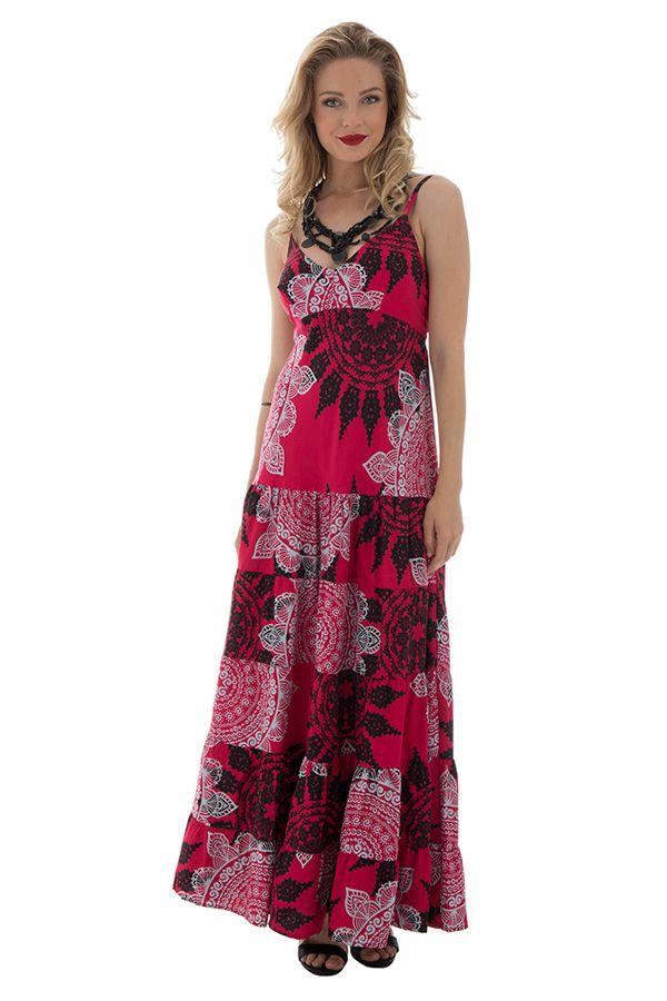 robe longue glamour avec de fines bretelles et un col en v Sixtine 289346