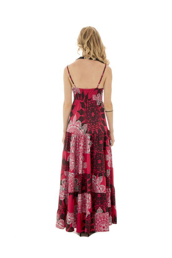 robe longue glamour avec de fines bretelles et un col en v Sixtine 289347