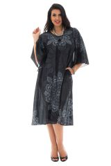 robe longue grande taille à manches évasées Oural 293550