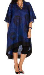 Robe longue grande taille aux imprimés ethniques Varsie 309789