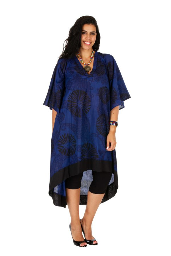 Robe longue grande taille aux imprimés ethniques Varsie 309790