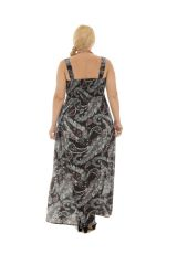 Robe longue grande taille avec imprimé tendance Jyle 290320