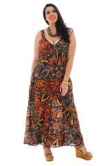 robe longue grande taille avec joli col en v Pax 293554