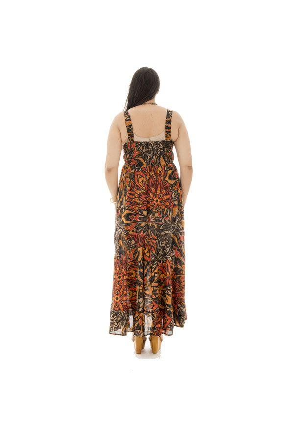 robe longue grande taille avec joli col en v Pax