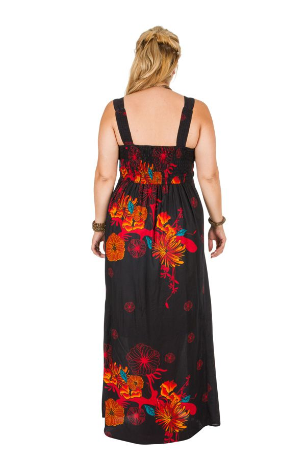 Robe longue grande taille avec un imprimé fleuri Rose 307931