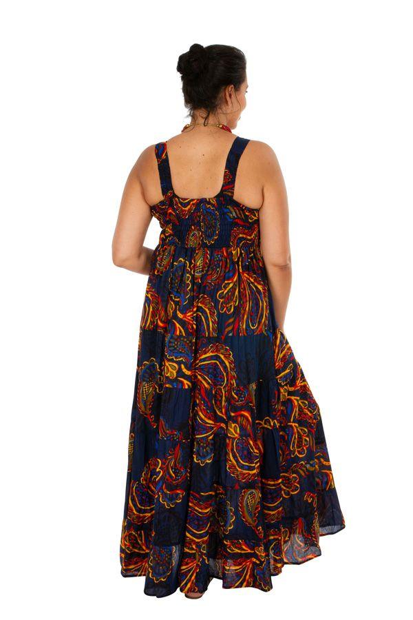 Robe longue grande taille chic ethnique pour soirée Suzie