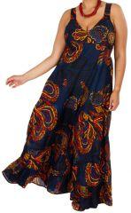 Robe longue grande taille chic ethnique Suzie 313536