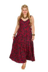 Robe longue grande taille rouge chic pour mariage Any 307947
