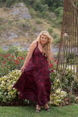 Robe longue grande taille rouge chic pour mariage Any 307949