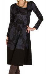 Robe longue imprimé asiatique et col asymétrique Opéra 299704