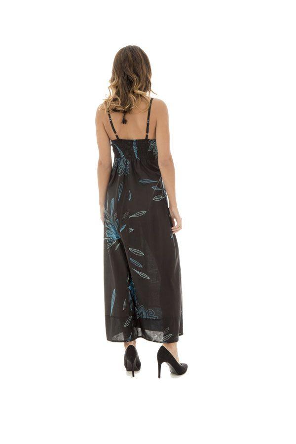 Robe longue imprimée avec un col en v Norica 288633