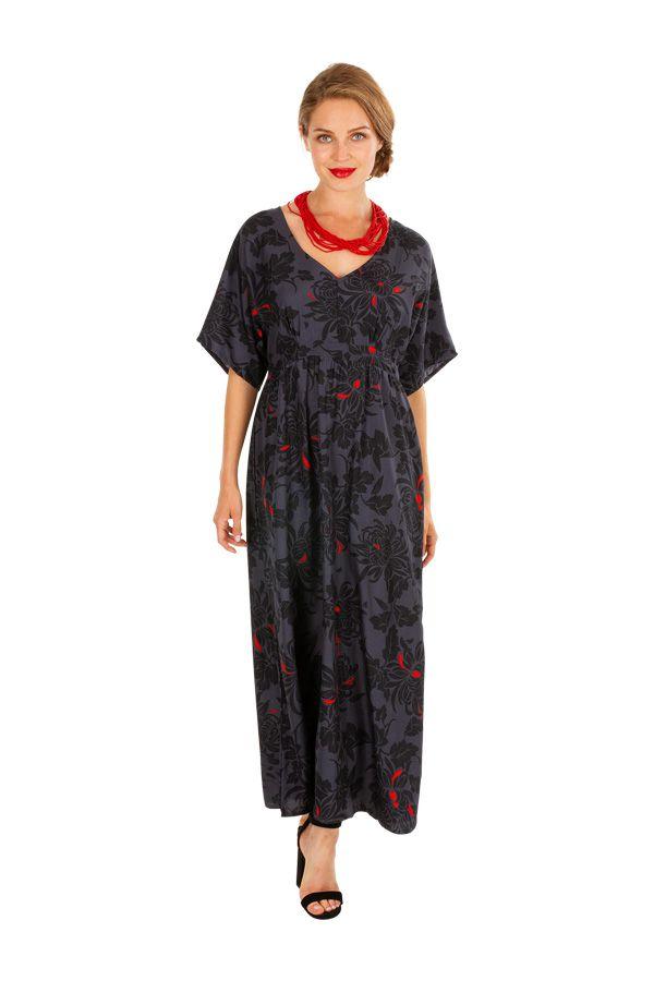 Robe longue imprimée coupe cintrée sous la poitrine Keila 309146