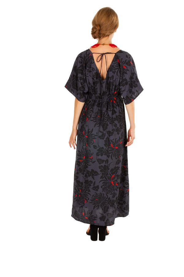 Robe longue imprimée coupe cintrée sous la poitrine Keila 309147
