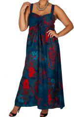 Robe longue imprimée de fleurs grande taille Tiffany