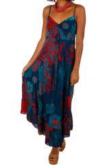 Robe longue imprimée de fleurs tropicales Mauritius 307049