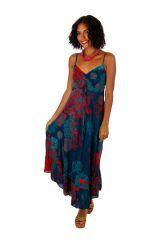 Robe longue imprimée de fleurs tropicales Mauritius 307050