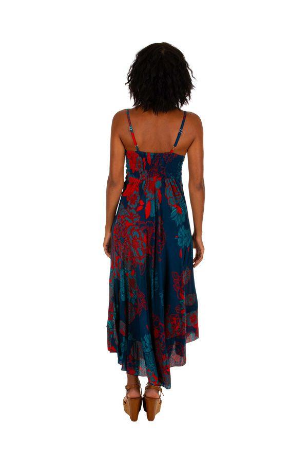 Robe longue imprimée de fleurs tropicales Mauritius 307051