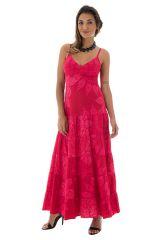 Robe longue imprimée en coton fine bretelles Gabby 288679