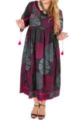 Robe longue imprimée et colorée grande taille Lindsay 308502