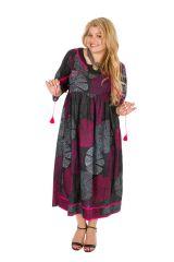 Robe longue imprimée et colorée grande taille Lindsay 308503