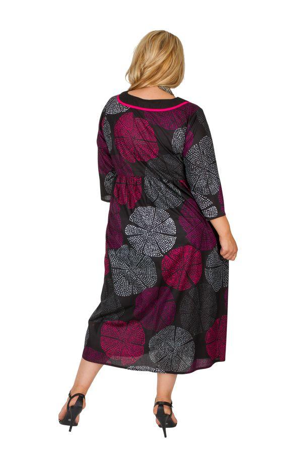 Robe longue imprimée et colorée grande taille Lindsay 308504