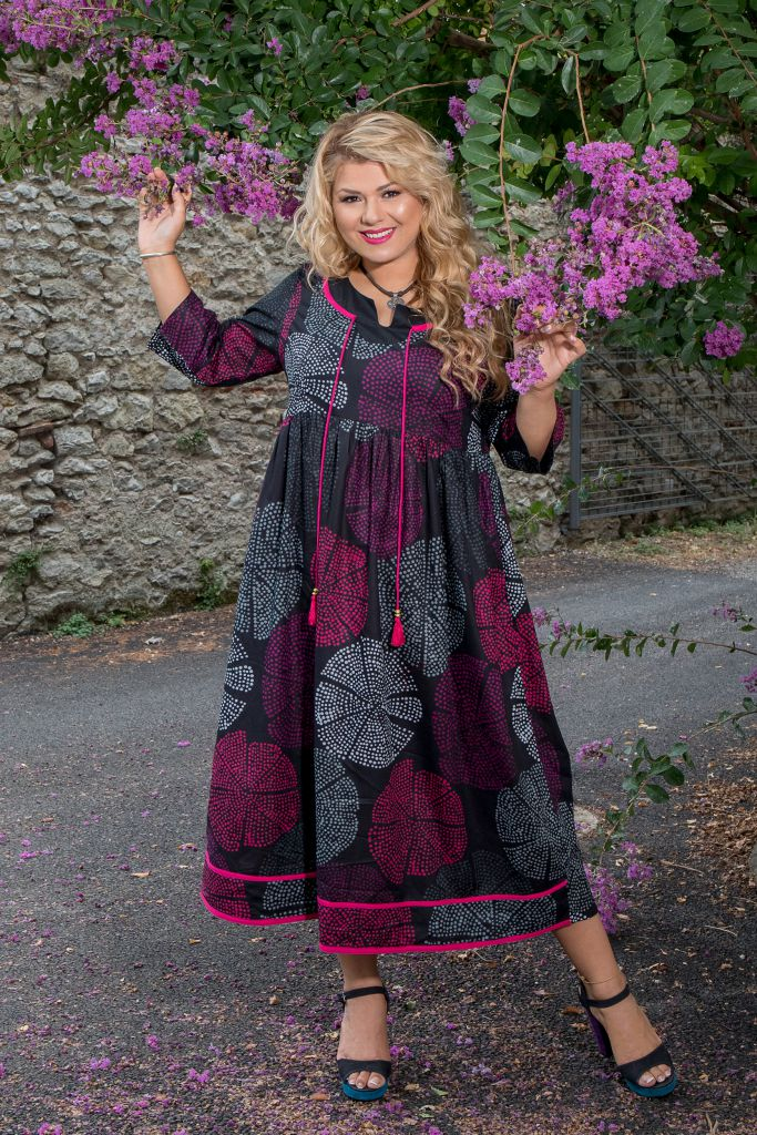 Robe longue imprimée et colorée grande taille Lindsay 308505