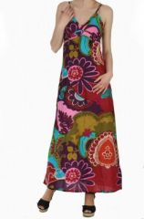 Robe longue imprimée ethnique isabella 257621