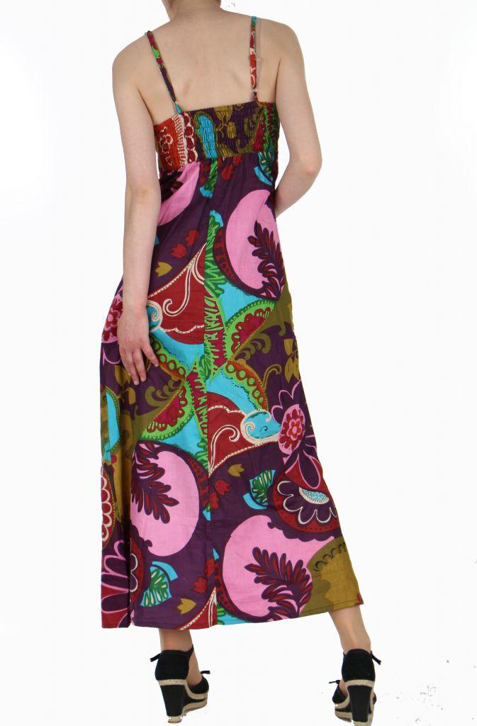 Robe longue imprimée ethnique isabella 257622