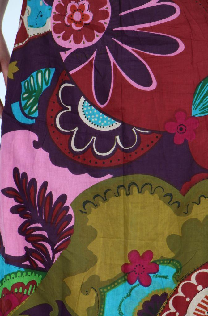 Robe longue imprimée ethnique isabella 257623