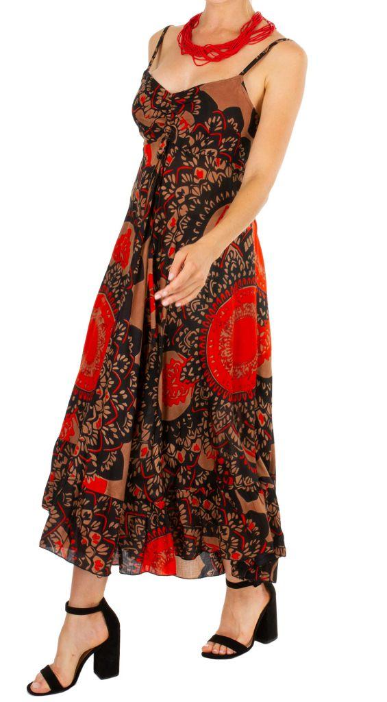 Robe longue imprimée ethnique style boho-chic Julia 307052