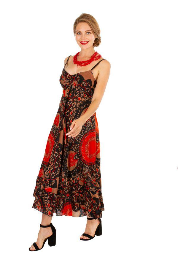 Robe longue imprimée ethnique style boho-chic Julia 307053
