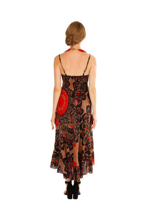 Robe longue imprimée ethnique style boho-chic Julia 307054