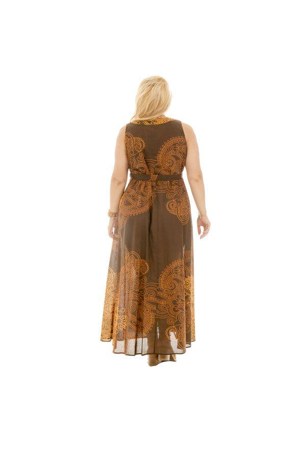 Robe longue imprimée évasée avec ceinture Cosima 290223