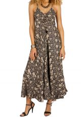 Robe longue look bohème et original à fines bretelles Miranda 292712