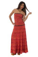 robe longue lumineuse avec bustier et smocks au dos Jord 289753