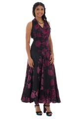 Robe longue noire avec des motifs floraux Alexiana 288721