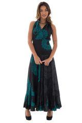 Robe longue noire avec des motifs mandala Alexiana 288719
