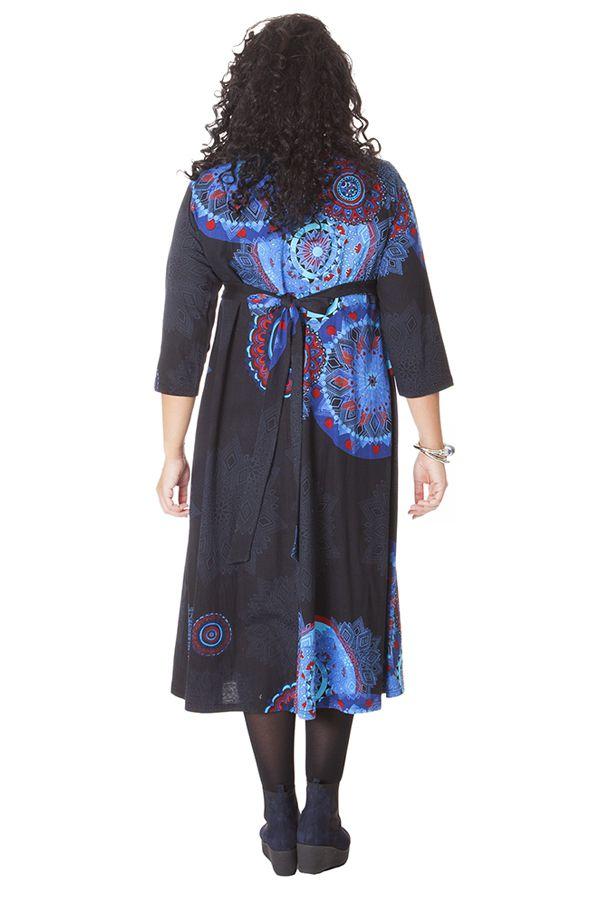 Robe longue Noire Grande taille Pas chère et forme Portefeuille Calista 286268
