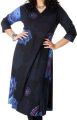 Robe longue Noire Grande taille Pas chère et forme Portefeuille Calista 286980