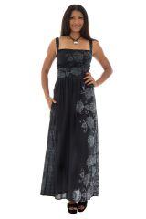 Robe longue noire très féminine Sonia 288735