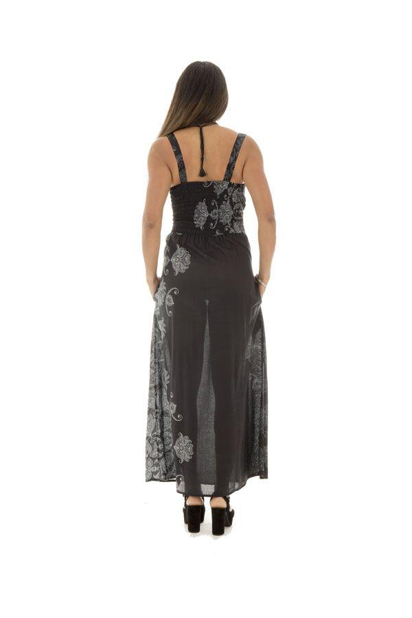 Robe longue noire très féminine Sonia 288736